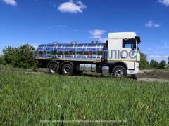 Автоцистерни, водовози, рибовоз, молоковози та інші машини