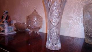 Beautiful crystal vase