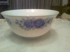 Fine porcelain bowl with blue flowers