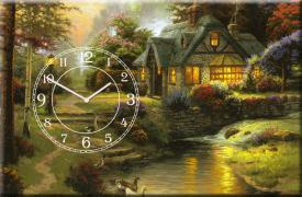 Original wall clock on canvas